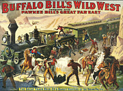 And Posters Drawings Prints - Buffalo BillÕs Wild West Show  1907 Print by The Advertising Archives