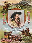 Cowboy Art Digital Art Posters - Buffalo Bills Wild West Poster by Unknown