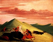 Have Art - Buffalo Chase by George Catlin
