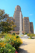 Art Of Building Acrylic Prints - Buffalo City Hall Acrylic Print by Charline Xia