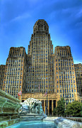 Cities Digital Art Metal Prints - Buffalo City Hall Metal Print by Tammy Wetzel