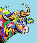 Buffalo Print by Eloise Schneider