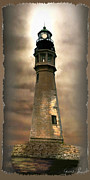 Historical Greeting Card Framed Prints - Buffalo Main Lighthouse Framed Print by Gina Femrite