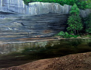 Buffalo National River Painting Posters - Buffalo Point Poster by Teresa Melton