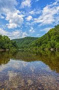 Arkansas Beauty Digital Art Prints - Buffalo River Majesty Print by Bill Tiepelman