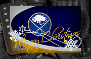 Hockey Framed Prints - Buffalo Sabres Christmas Framed Print by Joe Hamilton