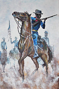 Soldier Paintings - Buffalo Soldier by Ray Johnson
