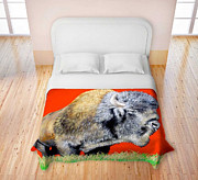 TeshiaArt - Buffalo Warrior - Duvet...