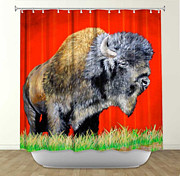 TeshiaArt - Buffalo Warrior - Shower...
