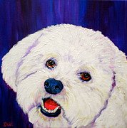 Dog Pop Art Paintings - Buffy by Debi Pople