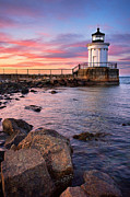 Portland Harbor Framed Prints - Bug Light Park Framed Print by Benjamin Williamson