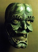 Theatre Sculpture Posters - Bugaku Mask Poster by Pg Reproductions