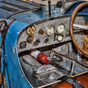 Bugatti Vintage Car Photos - Bugatti Cockpit by Bill  Wakeley