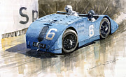 Sport Art - Bugatti Type 32 Tank 1923 French GP  by Yuriy  Shevchuk