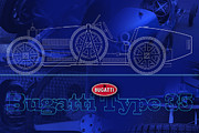 Kirkland Posters - Bugatti Type 35 Layout Poster by Curt Johnson
