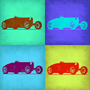 Bugatti Type 35 R Pop Art 1 Print by Naxart Studio