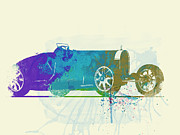 Bugatti Vintage Car Photos - Bugatti Type 35 R watercolor by Irina  March