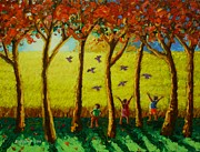 Fields Paintings - Bugaw by Paul Hilario