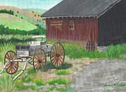 Amish Buggy Paintings - Buggy by James Violett II