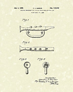 1939 Drawings Posters - Bugle 1939 Patent Art Poster by Prior Art Design