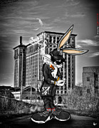 Nba Digital Art Posters - Bugs at The Train Station Poster by Nicholas  Grunas