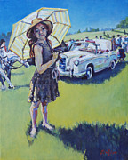 Car Chase Art - Bugsy by Patricia A Griffin