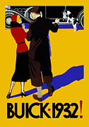 Buick Prints - Buick 1932 Print by Mark Rogan