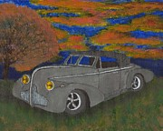 Buick Paintings - Buick At Dusk by Seth Miller