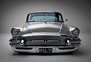 Car Posters Posters - Buick Roadmaster 1955 Poster by Sanely Great