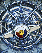 Chrome Framed Prints - Buick Skylark Wheel Framed Print by Jill Reger