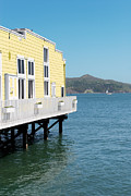 Sausalito Art - Build over the bay by Jo Ann Snover