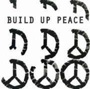 Anti-war Framed Prints - Build Up Peace ll Framed Print by Michelle Calkins