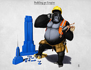 Animal Mixed Media Metal Prints - Building an Empire Metal Print by Rob Snow