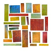 Layered Framed Prints - Building Blocks One Framed Print by Michelle Calkins