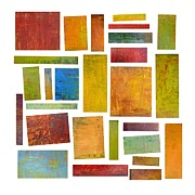 Layered Framed Prints - Building Blocks Two Framed Print by Michelle Calkins