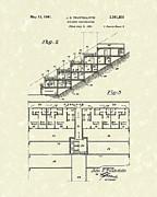 Building Construction 1941 Patent Art Print by Prior Art Design