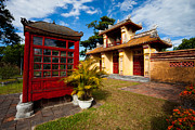 Nobility Photos - Building in the Imperial City of Hue Vietnam by Fototrav Print