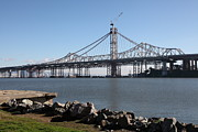 Bay Bridge Photos - Building The New San Francisco Oakland Bay Bridge - 5D20943 by Wingsdomain Art and Photography