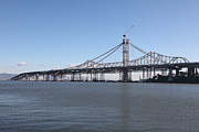 Bay Bridge Photos - Building The New San Francisco Oakland Bay Bridge - 5D20945 by Wingsdomain Art and Photography