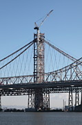 Bay Bridge Photos - Building The New San Francisco Oakland Bay Bridge - 5D20946 by Wingsdomain Art and Photography