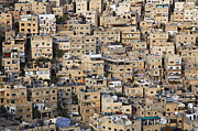 Buildings In The City Of Amman Jordan Print by Robert Preston