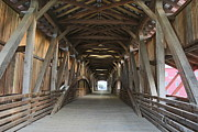 Bridgeton Covered Bridge Art - Built to Last - Again by Clayton Kelley