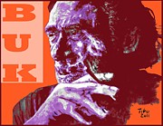 Bukowski Framed Prints - Buk  Framed Print by Richard Tito