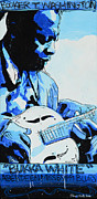 Booker T. Painting Prints - Bukka White Print by Jenny Hall