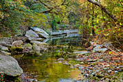 Creek Prints - Bull Creek In The Fall Print by Mark Weaver