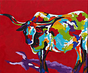 Diana Prickett Prints - Bull Print by Diana Prickett