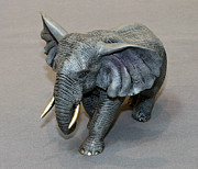 Awesome Sculpture Originals - Bull Elephant Bronze by Barry Stein