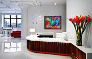Money Paintings - Bull Market Contemporary Office Showcase by Teshia Art