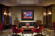 Bear Paintings - Bull Market Office Lounge Showcase by Teshia Art