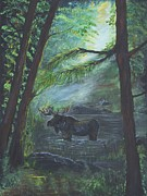 Bulls Originals - Bull Moose Pond by Leslie Allen